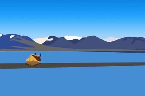 """纳木错西藏的""""天湖"""""""